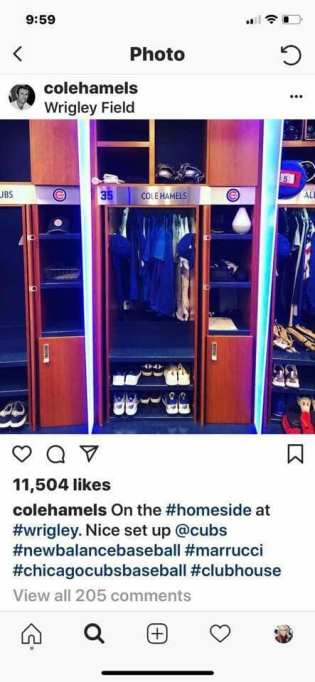 Cubs Locker Cole Hamels